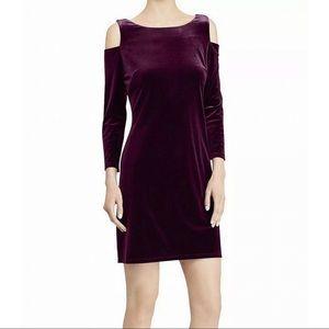 $89 American living purple velvet dress